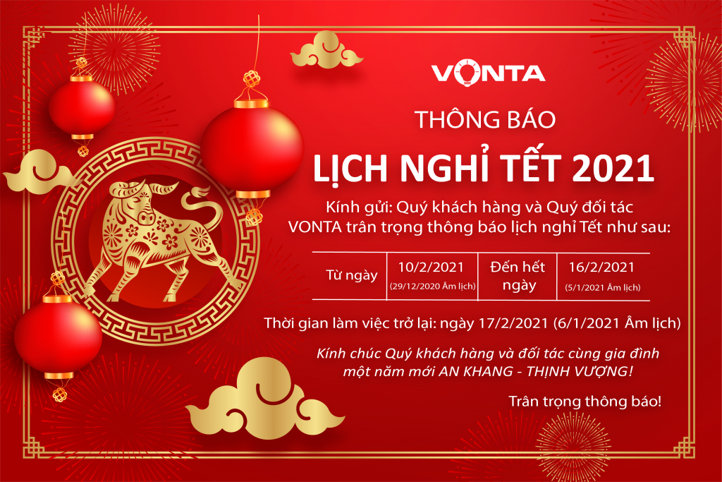 lịch nghỉ tết vonta 2021